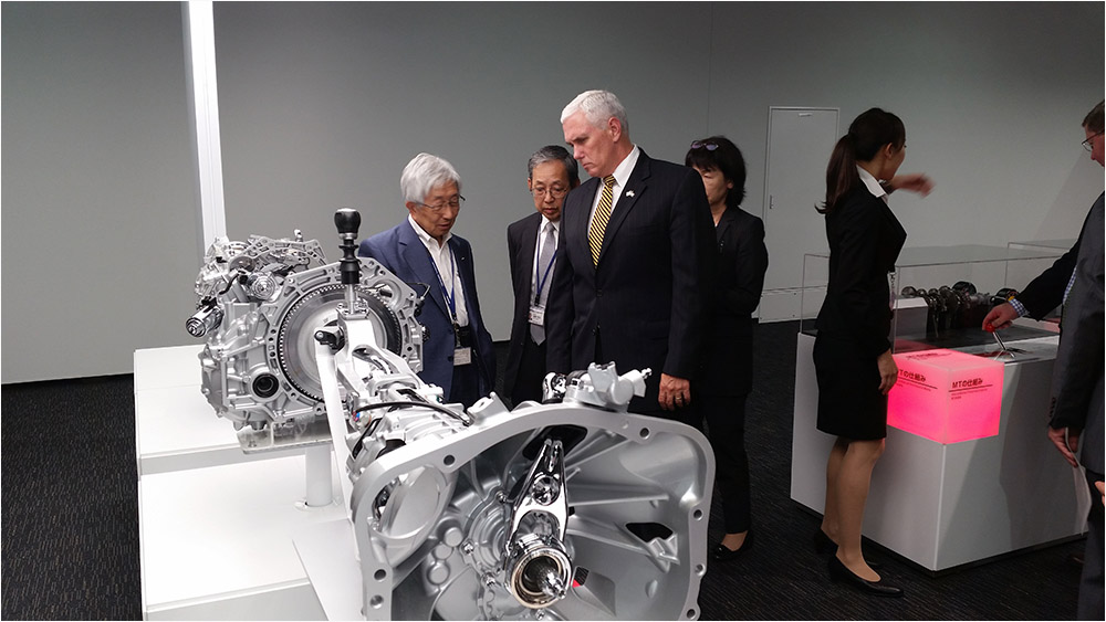 Pence and Toyoda